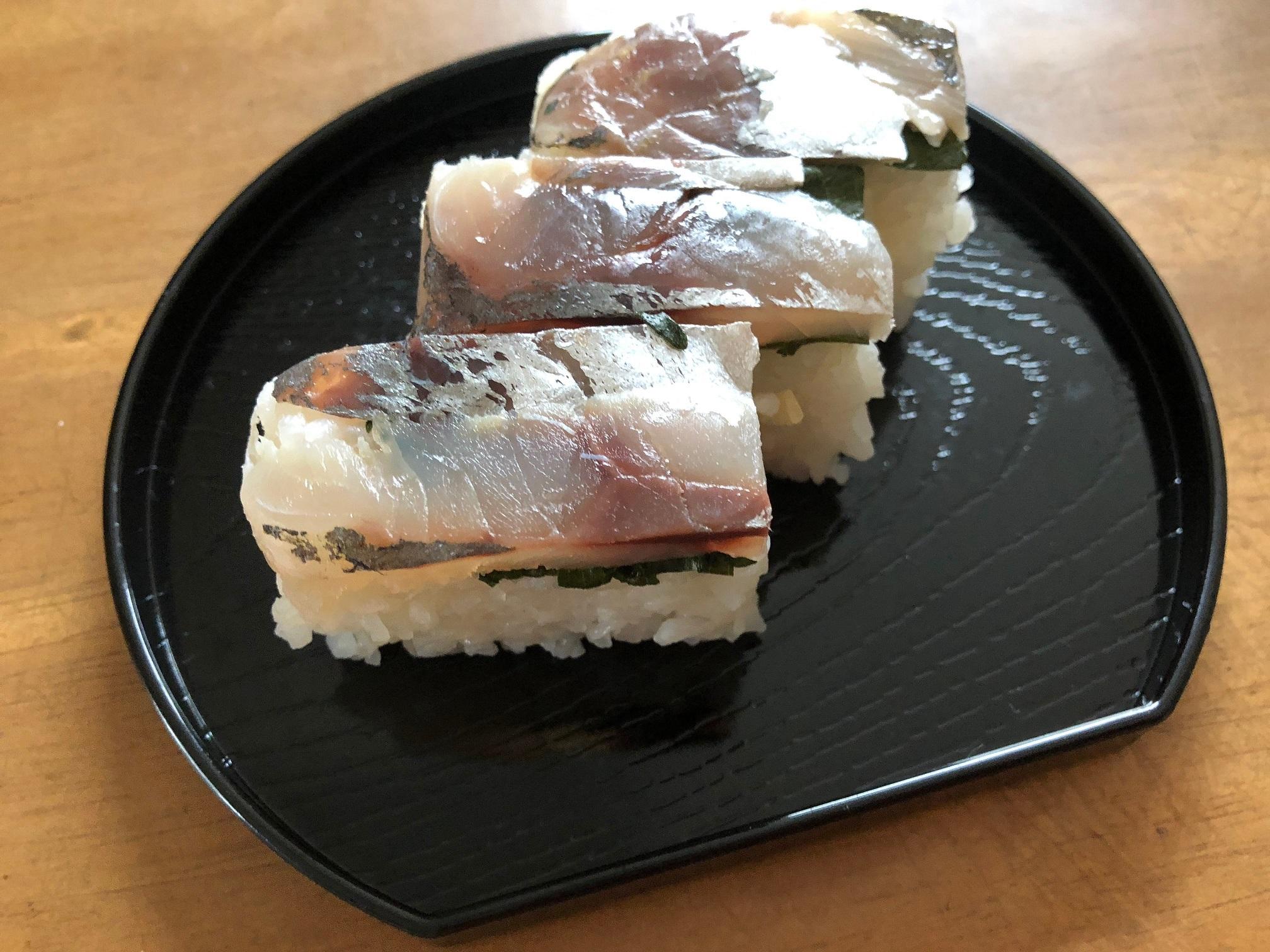 レシピ☆アジの押しずしを豆腐ので型枠で作る