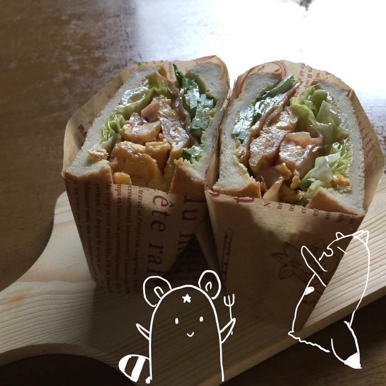 朝サンド☆具多め♪