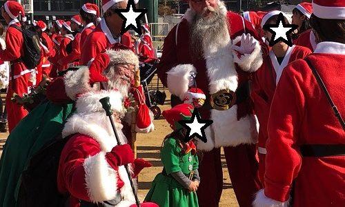 サンタコスプレで大阪城♪「Osaka Great Santa Run 2018」