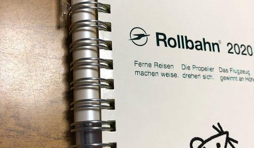 ロルバーン(Rollbahn)ダイアリー2020☆(2019.10月始まり)